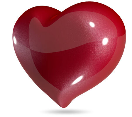3d illustration symbolic red heart Stock Photo