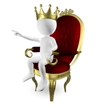 throne: 3d abstract illustration of a man on the throne