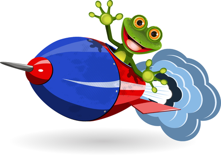triton: Illustration of a cartoon frog on the Rocket
