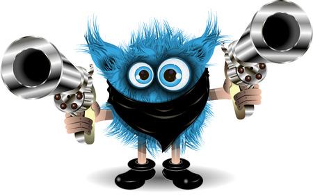 black hair blue eyes: Illustration fairy shaggy blue Monster of the Crime Illustration