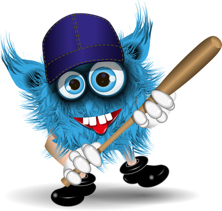 surprisingly: illustration fairy shaggy blue monster of baseball