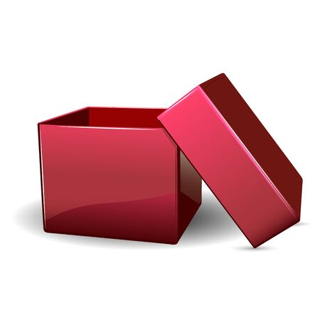 red box: Illustration Open red box on a white background
