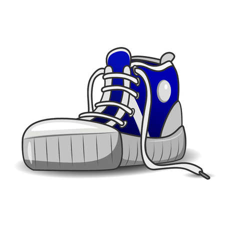 shoelaces: Illustration of sports shoes running shoes on a white background Illustration