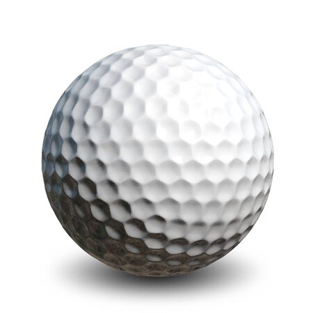 golf ball: Illustration of a golf ball on a white background Stock Photo