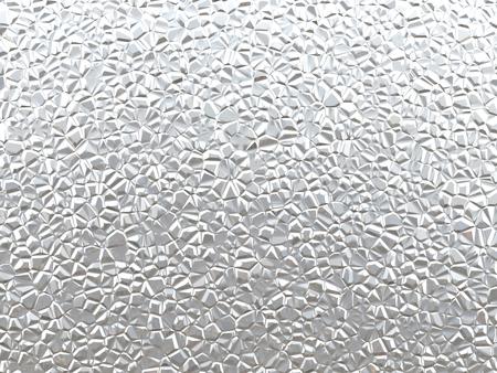 3D Abbildung der Silber zerknitterten Metall Textur Standard-Bild