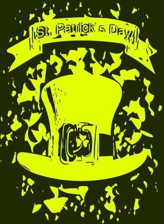 enano: Illustration a Green Background St. Patrick`s Day
