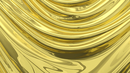 tela seda: 3D Illustration Abstract Gold Background Silk Cloth