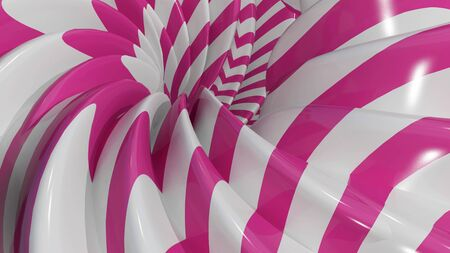 abstract: 3D Illustration Abstract Caramel Background with Pink