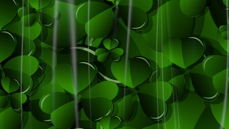 3D Illustration Abstract St. Patricks Day Background with Glare