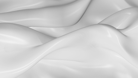 on white: 3D Illustration Abstract White Background with Glare