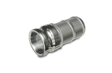 3d illustration Metallic Chrome Plated Industrial Part Stock Photo