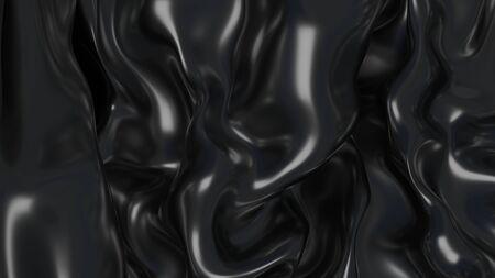 3D illustratie Abstracte zwarte achtergrond met schittering