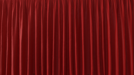 3d Abstract Background of the Red Curtain Stock Photo
