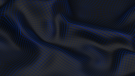 3D Illustration Abstract Black Background with Glare and with the Blue Stock Photo
