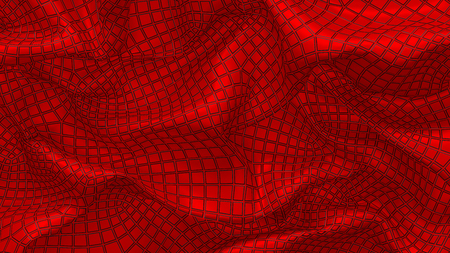 3D Illustration Abstract Background with Glare and with the Red Stock Photo