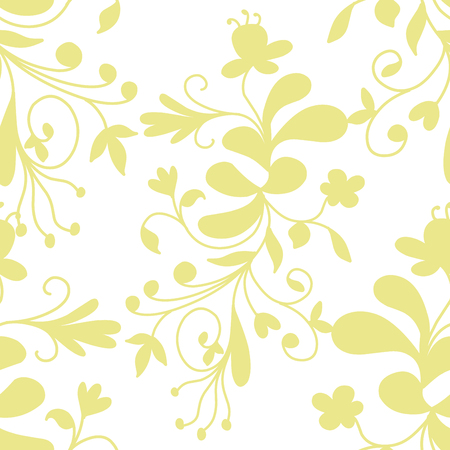 Stock Illustration Abstract Floral Seamless Pattern on a White Background Editorial