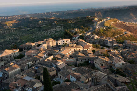 penumbra: Gerace typical southern Italian town Stock Photo
