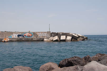 Italy Sicily Aci Trezza harbor