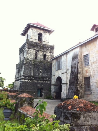 oldest: This is the oldest church in the Philippines. This is located in Baclayon Bohol Stock Photo
