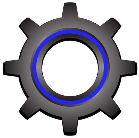 configure: Gear with blue strip Illustration