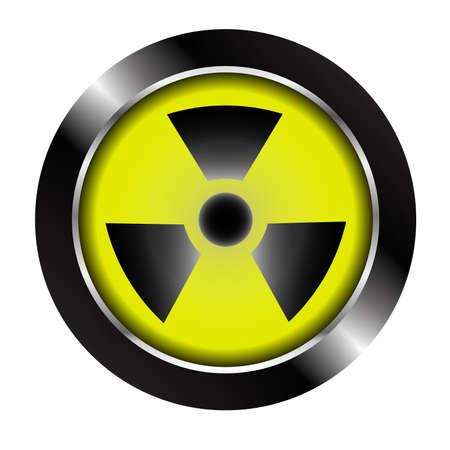 radioactive symbol: Bot�n del s�mbolo radiactivo
