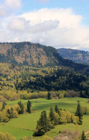 A peaceful valley in the rugged Cascade Mountains