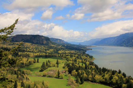 Beautiful valley in the Columbia River Gorge