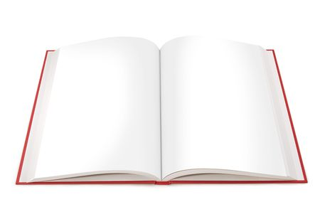 Open book with blank white pages on a white background. File includes paths for each page.