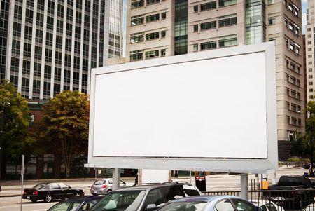 Lege Billboard in Urban-instelling