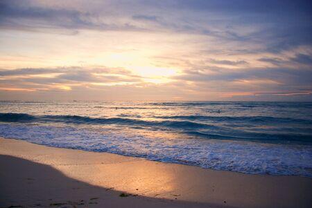 Sunrise in het Caribisch gebied Stockfoto