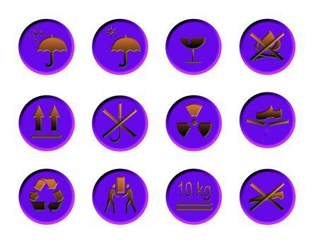 Box General Warning Symbols Stock Photo - 5734112