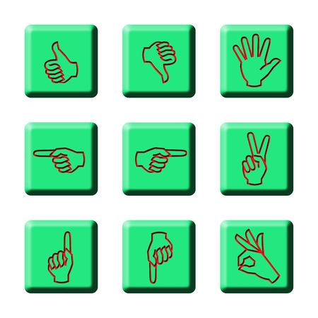 Simple Hand Signages Stock Photo