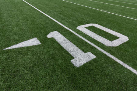 10: Numbers on a football field. 10.