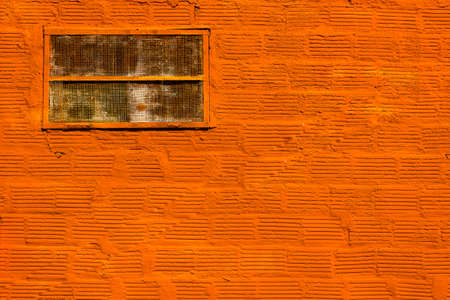 Orange Painted Brick Wall for Background