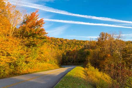north ridge: Blue Ridge Parkway in North Carolina with vibrant fall colors.