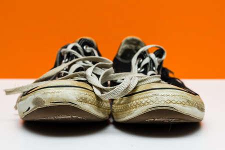 worn: Old Worn Tennis Shoes