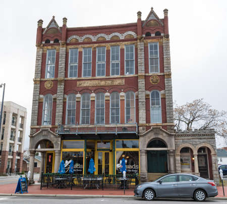 historic district: Historic Pythian Castle on December 17, 2016 in the historic district in Portsmouth, Virginia. Editorial