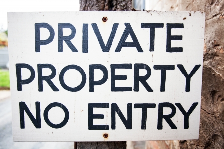 Private Property No Entry Sign Stock Photo - 24801986