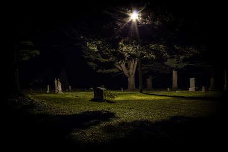 Grave Yard at Night
