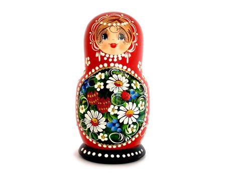Russian Nesting Doll isolated on a white background. photo