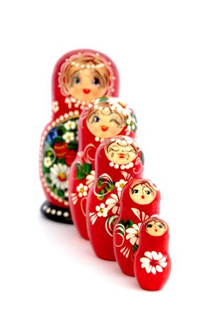 Russian Nesting Dolls. Souvenir from Russia. photo