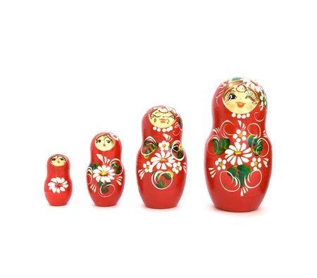mu�ecas rusas: Conjunto de cuatro mu�ecos ruso de aumentar de tama�o.