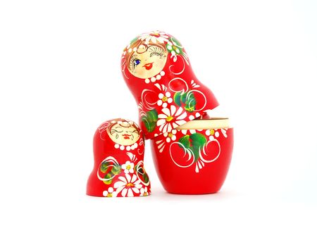 ukranian: Russian Nesting Dolls. Souvenir from Russia.