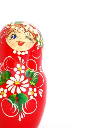matroshka: Russian Nesting Doll. Souvenir from Russia.