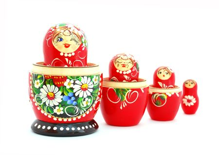 made russia: Russian Nesting Dolls. Souvenir from Russia.