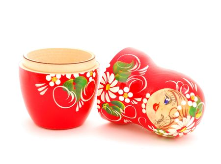 An opened russian nesting doll. Souvenir from Russia. Stock Photo - 6311945