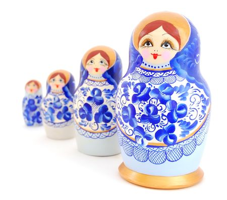 matroshka: Russian Nesting Dolls Stock Photo