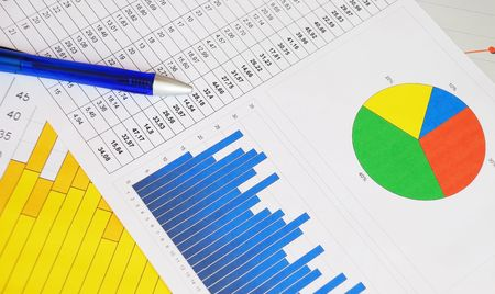 Business graphs and charts Stock Photo - 6457843