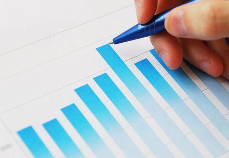 Financial data analyzing photo