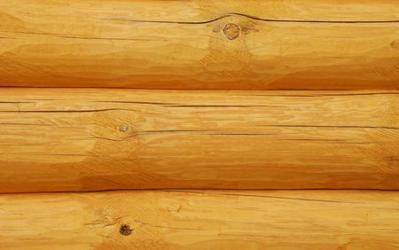 Logs of a wooden house photo